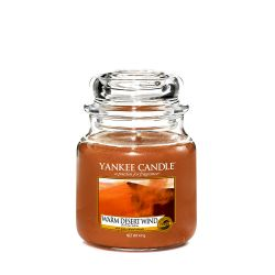 Candele Yankee Candle online  color marrone  Warm Desert Wind Medium Jar online - Prezzo:   24.90 €