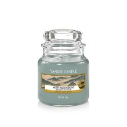 Candele profumate Yankee Candle color azzurro  Misty Mountains Small Jar  online - Prezzo:   11.90 €