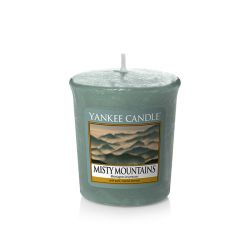 Candele profumate Yankee Candle color azzurro  Misty Mountains Votive Candle online - Prezzo:   1.86 €
