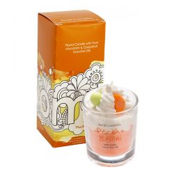 Candele profumate  color arancione  PIPED CANDLE Peach Bellini online - Prezzo:   10.90 €