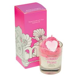 Candele profumate Bomb Cosmetici color rosa  PIPED CANDLE Summer Picnic online - Prezzo:   10.90 €