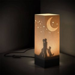 Gadget W-LAMP color beige  Family Table Lamp online - Prezzo:   29.90 €