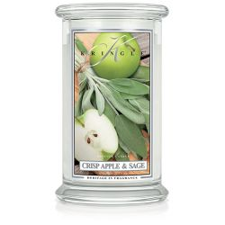 Candele profumate Kringle Candle color bianco  Crisp Apple & Sage Large Jar online - Prezzo:   30.90 €
