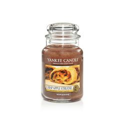 Candele profumate Yankee Candle color marrone  Crisp Apple Strudel Large Jar online - Prezzo:   29.90 €