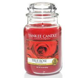 Candele profumate Yankee Candle color rosso  True Rose Large Jar online - Prezzo:   29.90 €