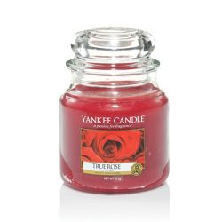 Candele profumate Yankee Candle color rosso  True Rose Medium Jar online - Prezzo:   17.43 €