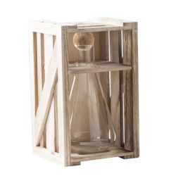 Living Brandani color marrone  Decanter in Legno Medium online - Prezzo:   34.90 €