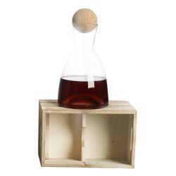 Living Brandani color marrone  Decanter in Legno Large online - Prezzo:   39.90 €