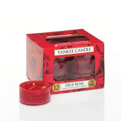 Candele profumate Yankee Candle color rosso  True Rose Tea Light online - Prezzo:   9.95 €