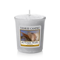 Candele profumate Yankee Candle color grigio  Autumn Pearl Votive Candle online - Prezzo:   2.65 €