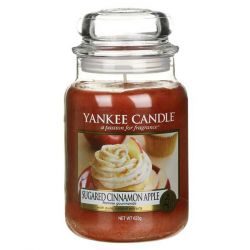 Candele profumate Yankee Candle color marrone  Sugared Cinnamon Apple Large Jar online - Prezzo:   29.90 €