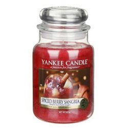 Candele profumate Yankee Candle color rosso  Spiced Berry Sangria Large Jar online - Prezzo:   29.90 €