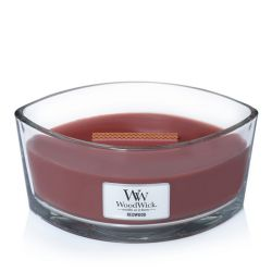 Candele profumate WoodWick color rosso  Candela Ellipse REDWOOD online - Prezzo:   34.90 €