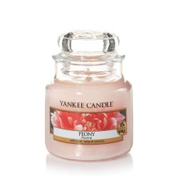 Candele profumate Yankee Candle color rosa  Peony Small Jar online - Prezzo:   11.90 €