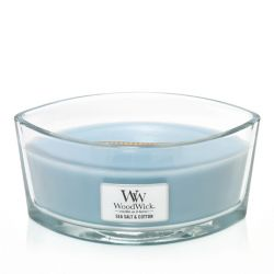 Candele profumate WoodWick color azzurro  Candela Ellipse SEA SALT & COTTON online - Prezzo:   34.90 €