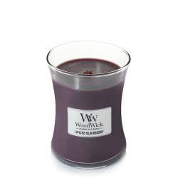 Candele profumate WoodWick color viola  Candela Media SPICED BLACKBERRY online - Prezzo:   21.90 €