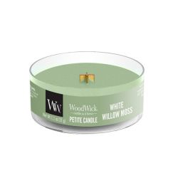 Candele profumate WoodWick color verde  Candela Petite WHITE WILLOW MOSS online - Prezzo:   3.90 €