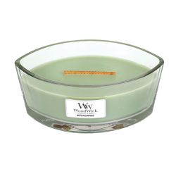 Candele profumate WoodWick color verde  Candela Ellipse WHITE WILLOW MOSS online - Prezzo:   34.90 €