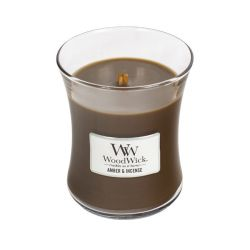 Candele profumate WoodWick color marrone  Candela Media AMBER & INCENSE online - Prezzo:   16.43 €