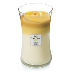 Candele profumate WoodWick color multicolor  Candela Grande Trilogy FRUITS OF SUMMER online - Prezzo:   34.90 €