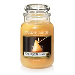 Candele profumate Yankee Candle color giallo  Poached Pear Flambe Large Jar online - Prezzo:   29.90 €