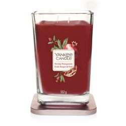 Candele profumate Yankee Candle color rosso  Holiday Pomegranate Large Jar online - Prezzo:   29.90 €