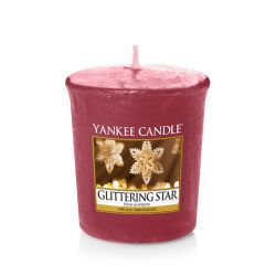 Candele profumate Yankee Candle color rosso  Glittering Star Votive Candle online - Prezzo:   1.86 €