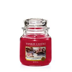 Candele profumate Yankee Candle color rosso  Frosty Gingerbread Medium Jar online - Prezzo:   24.90 €