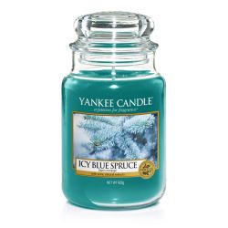 Giare grandi Yankee Candle  color blu  Icy Blue Spruce Large Jar online - Prezzo:   29.90 €