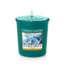 Candele profumate Yankee Candle color blu  Icy Blue Spruce Votive Candle online - Prezzo:   1.86 €