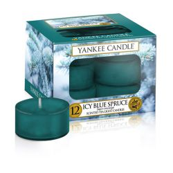 Candele profumate Yankee Candle color blu  Icy Blue Spruce Tea-Light online - Prezzo:   6.97 €