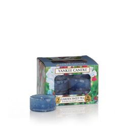 Candele profumate Yankee Candle color azzurro  Garden Sweet Pea Tea Light online - Prezzo:   9.95 €