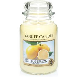 Giare grandi Yankee Candle  color giallo  Sicilian Lemon Large Jar online - Prezzo:   29.90 €