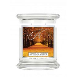 Candele profumate Kringle Candle color bianco  Autumn Amber Medium Jar online - Prezzo:   18.83 €