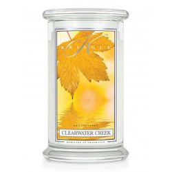 Candele profumate Kringle Candle color bianco  Clearwater Creek Large Jar online - Prezzo:   30.90 €