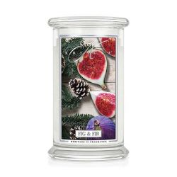Candele profumate Kringle Candle color bianco  Large Jar Fig & Fir online - Prezzo:   30.90 €