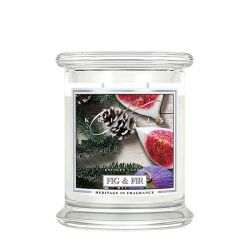Candele profumate Kringle Candle color bianco  Medium Jar Fig & Fir online - Prezzo:   26.90 €
