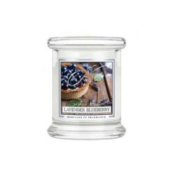 Candele profumate Kringle Candle color bianco  Lavender Blueberry Small Jar online - Prezzo:   16.90 €