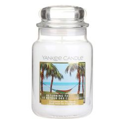 Candele profumate Yankee Candle color bianco  Christmas At The Beach Large Jar online - Prezzo:   29.90 €