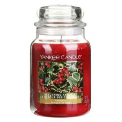 Candele profumate Yankee Candle color rosso  Hollyberry Large Jar online - Prezzo:   29.90 €