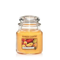 Candele profumate Yankee Candle color giallo  Mango Peach Salsa Medium Jar online - Prezzo:   18.68 €