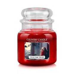 Candele profumate Country Candle color rosso  'Twas The Night Medium Jar online - Prezzo:   24.90 €