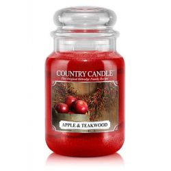 Candele profumate Country Candle color rosso  Apple & Teakwood Large Jar online - Prezzo:   20.93 €