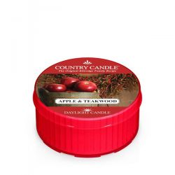 Candele profumate Country Candle color rosso  Apple & Teakwood Daylight online - Prezzo:   2.55 €