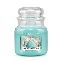 Candele profumate Country Candle color azzurro  Baby it's Cold Outside Medium Jar online - Prezzo:   24.90 €