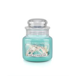 Candele profumate Country Candle color azzurro  Baby it's Cold Outside Small Jar online - Prezzo:   11.90 €