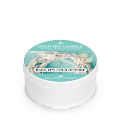 Candele profumate Country Candle color azzurro  Baby it's Cold Outside Daylight online - Prezzo:   3.65 €