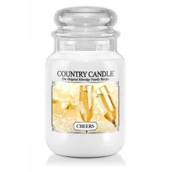 Candele profumate Country Candle color bianco  Cheers Large Jar online - Prezzo:   29.90 €