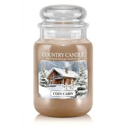 Candele profumate Country Candle color beige  Cozy Cabin Large Jar online - Prezzo:   29.90 €