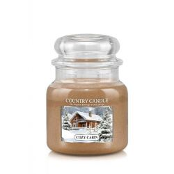 Candele profumate Country Candle color beige  Cozy Cabin Medium Jar online - Prezzo:   24.90 €